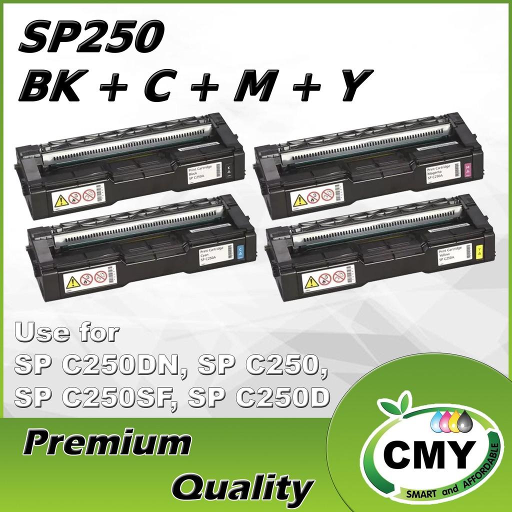 Ricoh Aficio SP C250DN SPC250 SP C250 SPC250DN SPC250SFSP C250SF Toner Black Cyan Magenta Yellow