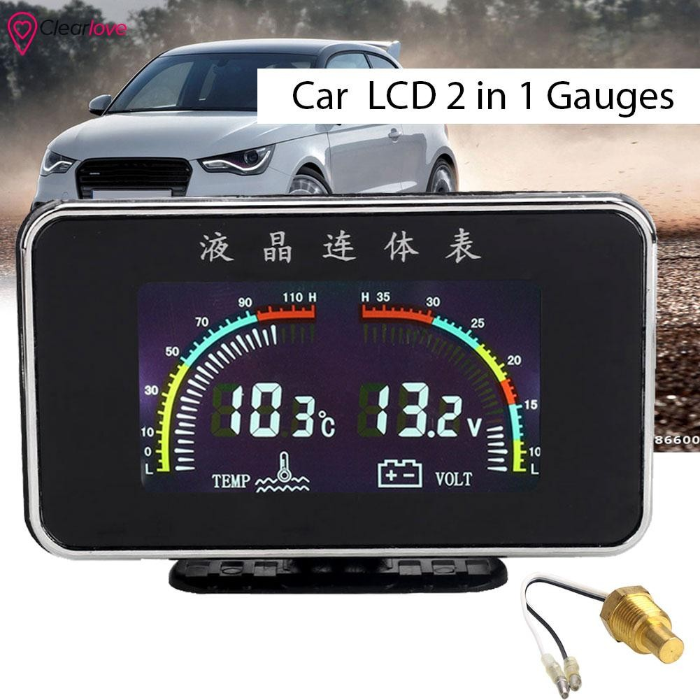 VCN Temp Gauges Water Temp Gauge Water Temperature Meter Universal 2 ...