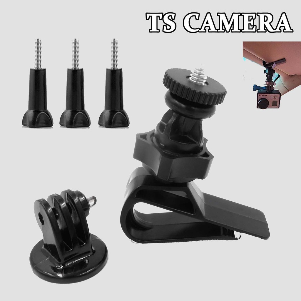 SCREW MOUNT + SUNVISOR MOUNT SET FOR GOPRO EKEN SJ CAM ACTION CAMERA