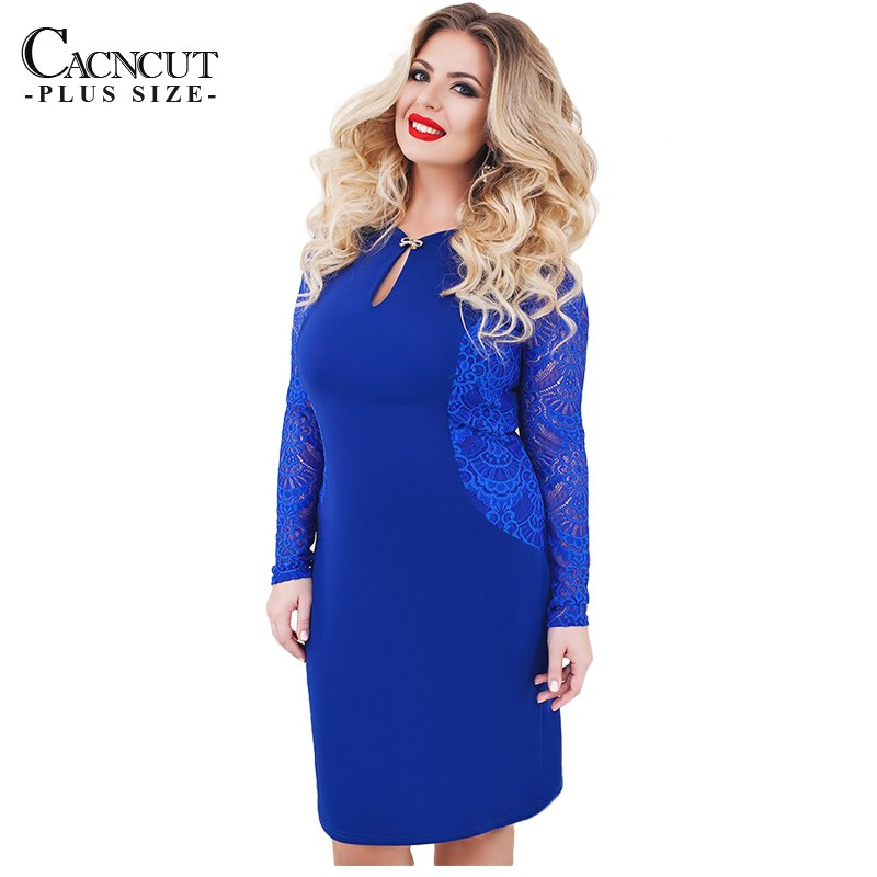 6XL Sexy Blue Lace Women Plus Size Bodycon Party Spring Maxi Evening Dress   cb9723b25f29