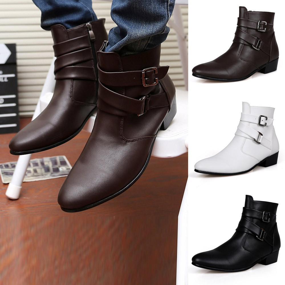 e93d80d3034 ProductImage. ProductImage. Men Work Boots Motorcycle Boots Western Chelsea  Ankle ...