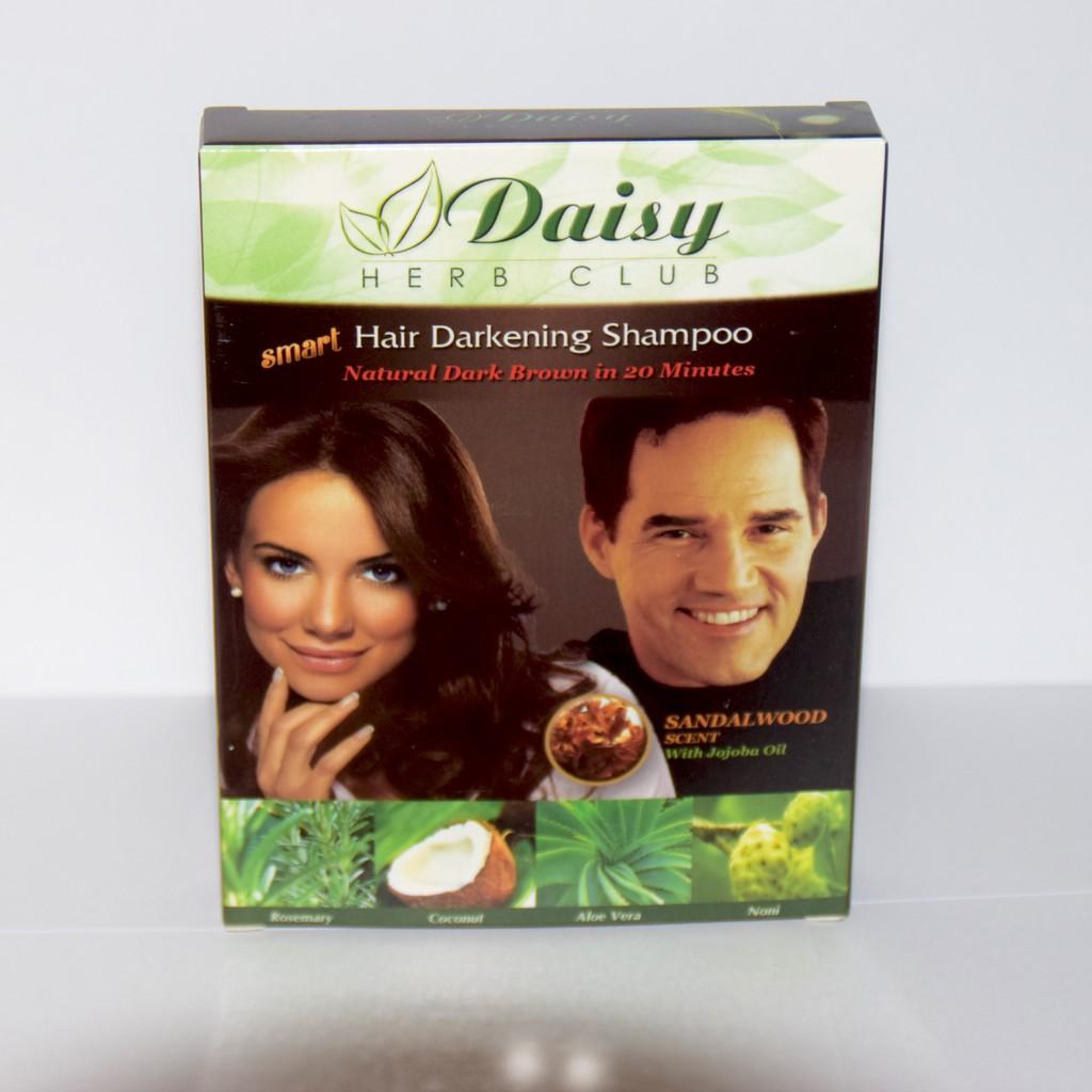 Daisy Herb Hair Darkening Shampoo Black/Brown Set of 10 Box