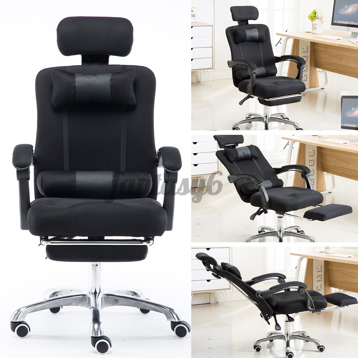 Image of: Adjustable Office Chair Mesh Seat Recliner Executive Racing Gaming Computer Diy Shopee Malaysia