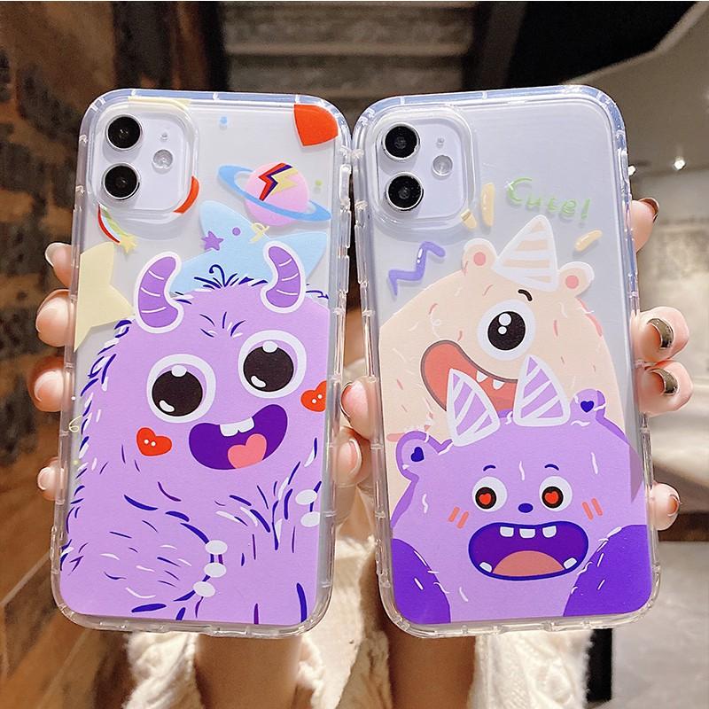 【ลดลง 15% จาก 200: TH6ESZAX】Cartoon cute Monster เคสโทรศัพท์ iPhone 11 pro max soft case iPhone 11 โปร่งใส กรณีซิลิโคน iphone 6 6S 7 8 7plus 8 plus เคสโทรศัพท์ iPhone x xr xs max case