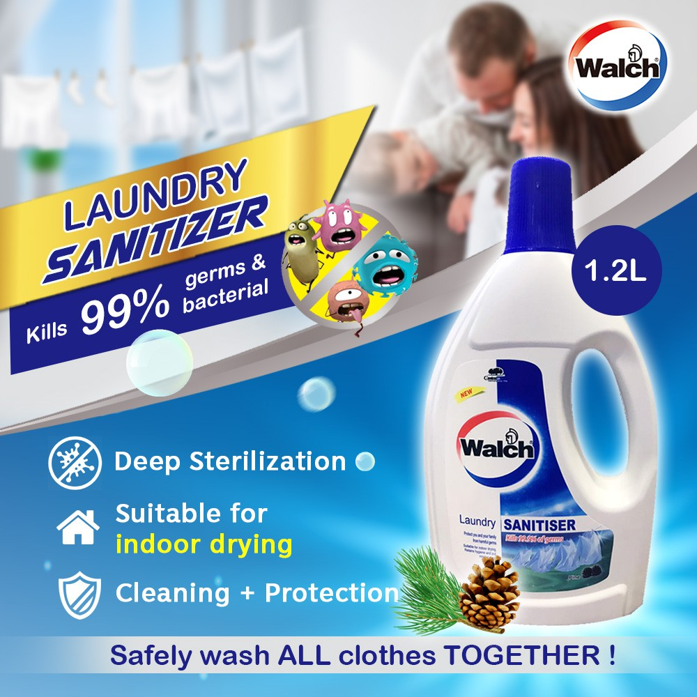Ready Stock Walch Laundry Sanitiser Pine 1.2L Disinfectant Clothes Sterilization