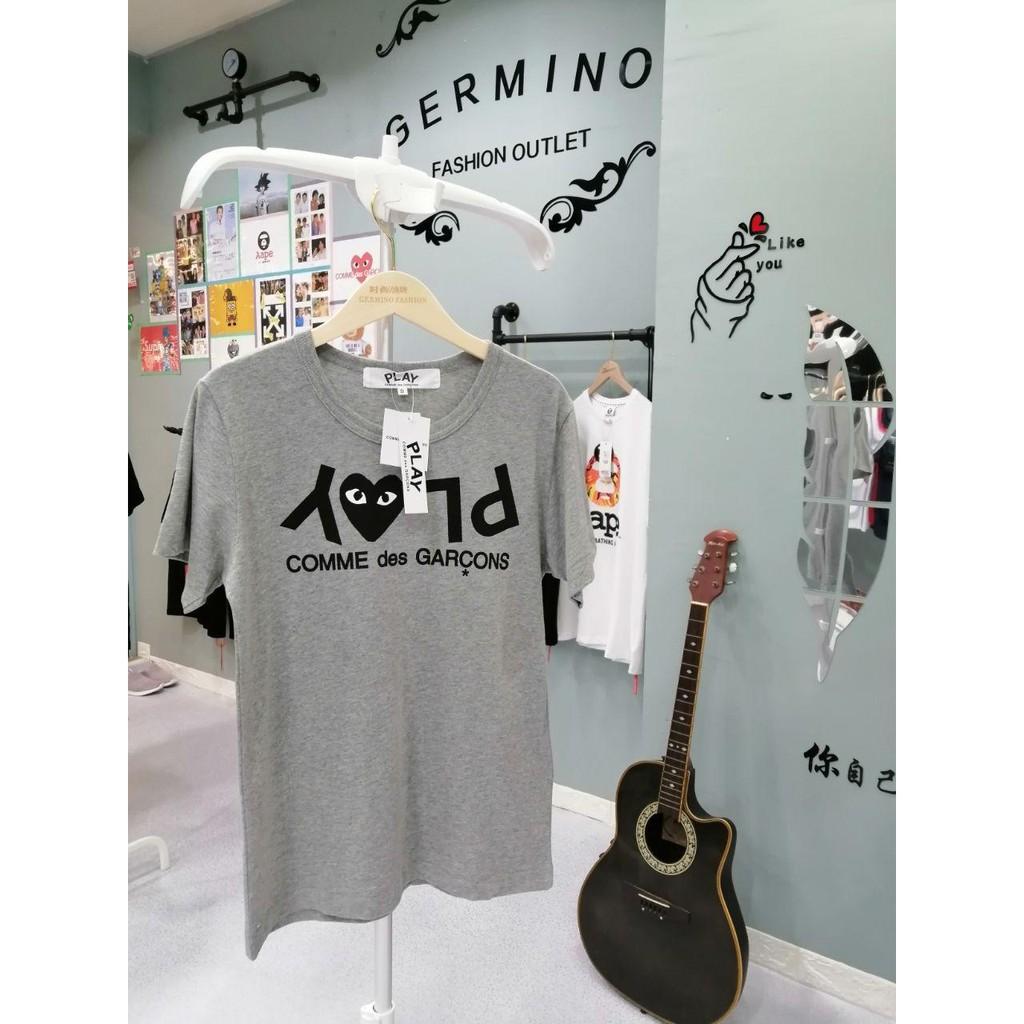 COMME des Garcons 8015GY CDG PLAY Premium Heart Pure Cotton T-Shirt