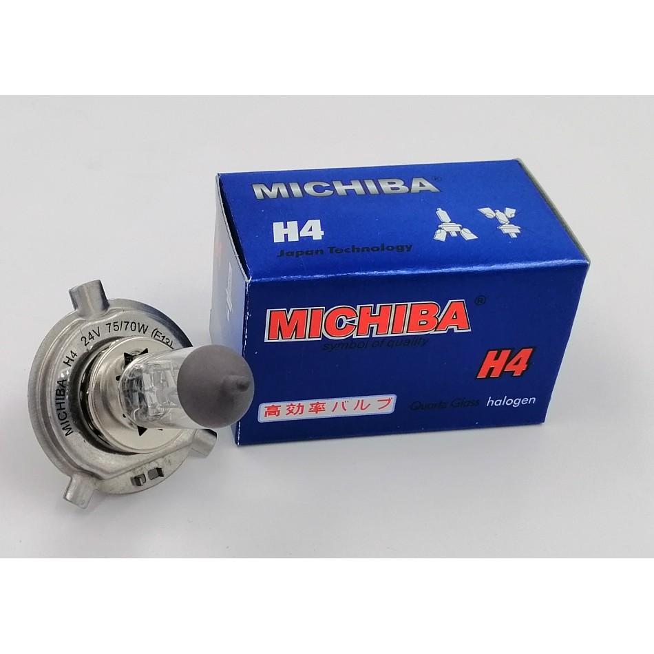 BBMH424V-MICHIBA HALOGEN H4 24V 75/70W P43T BULB