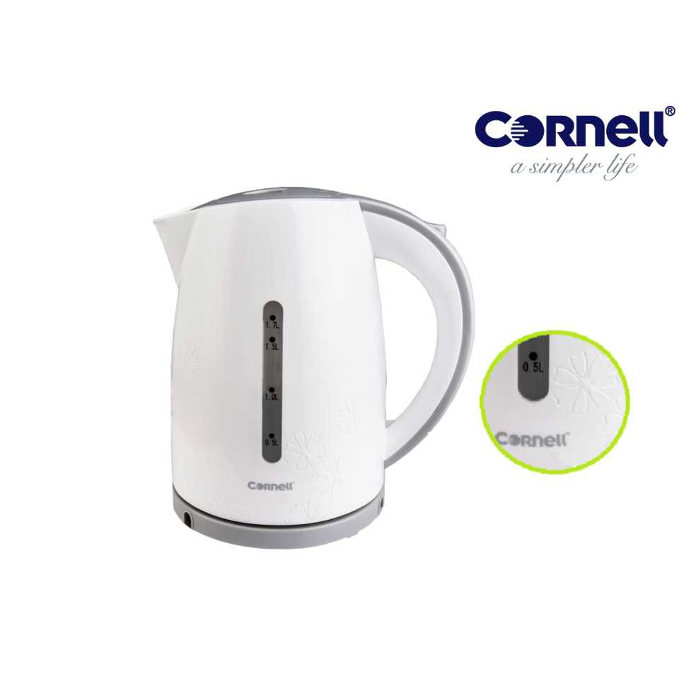 Cornell Cordless Jug Kettle - Unique with Flower Pattern CJK-S176C Fast Heating Coffee & Tea