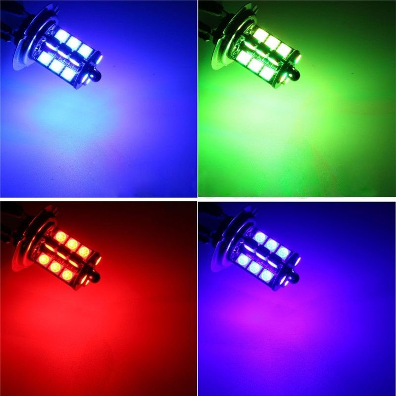 HB3//9005//9012 RGB ALL IN ONE 27 LED HEAD LOW HIGH FOG LIGHT 24 KEY CONTROLLER