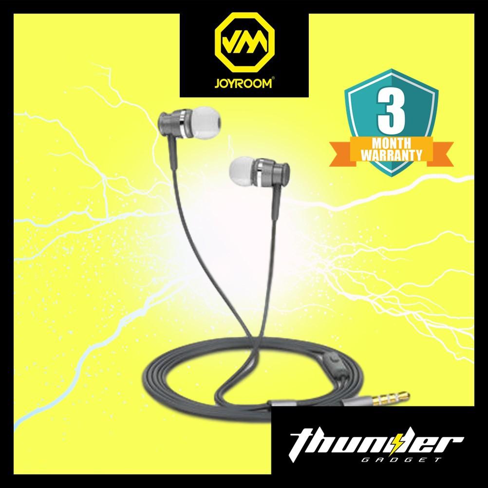 JOYROOM EL122 3.5MM IN EAR METAL DYNAMIC STEREO EARPHONE HEADPHONE WITH MICROPHONE (GRAY)
