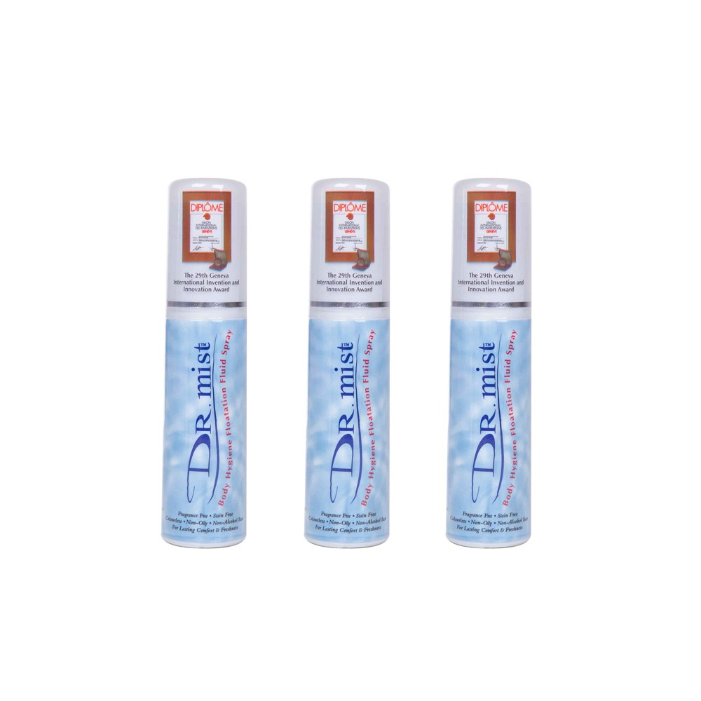 Dr. Mist Spray Deodorant Chemical Free 3X75ml