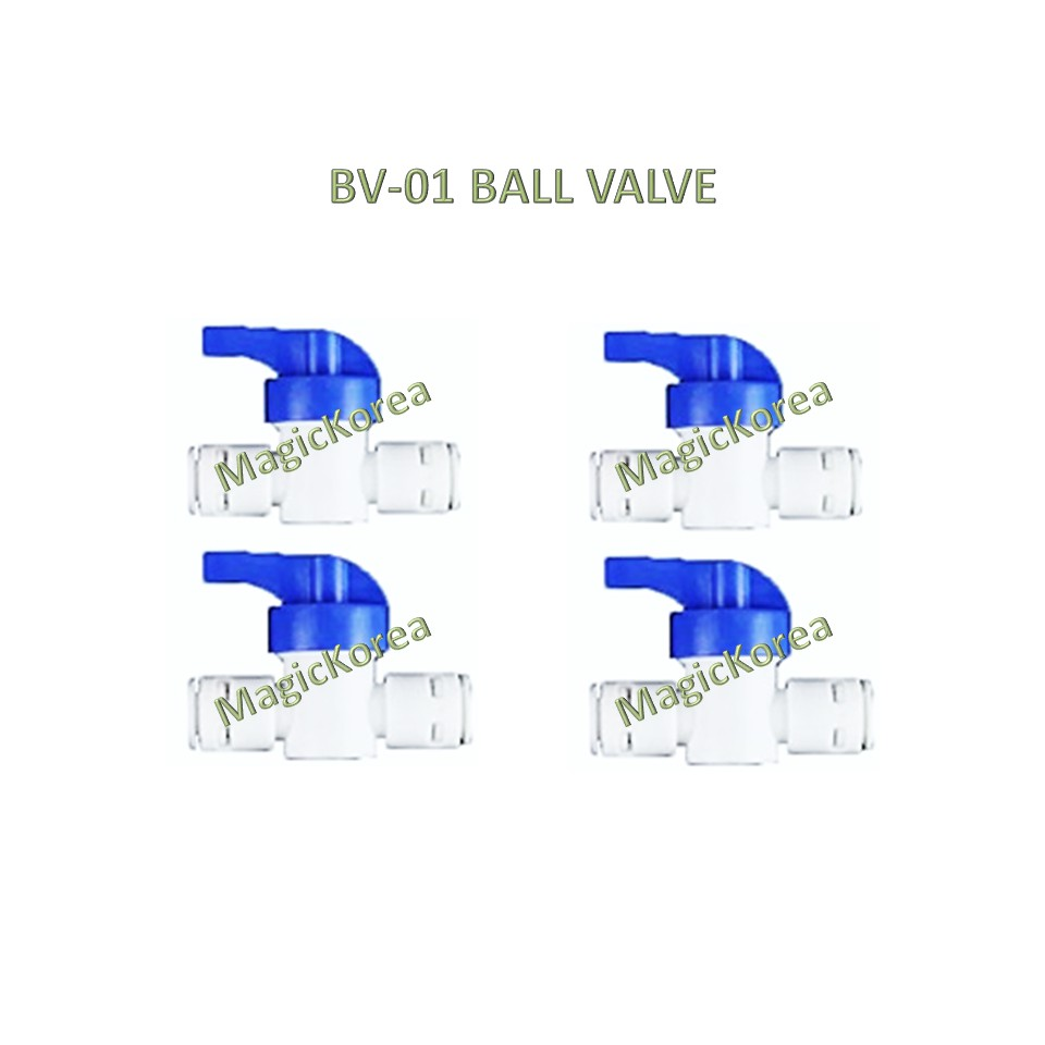 """1/4"""" Ball Valve Hand Valve Union Connector Korea Water Filter Dispenser Parts for RO System"""