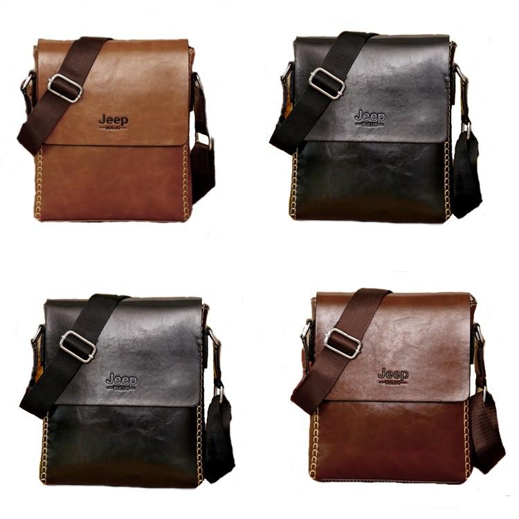 Business Men Jeep Leather Beg Messenger Bag Sling Shoulder Cross Wallet  DJ020  8eb4d6f5c9cdc