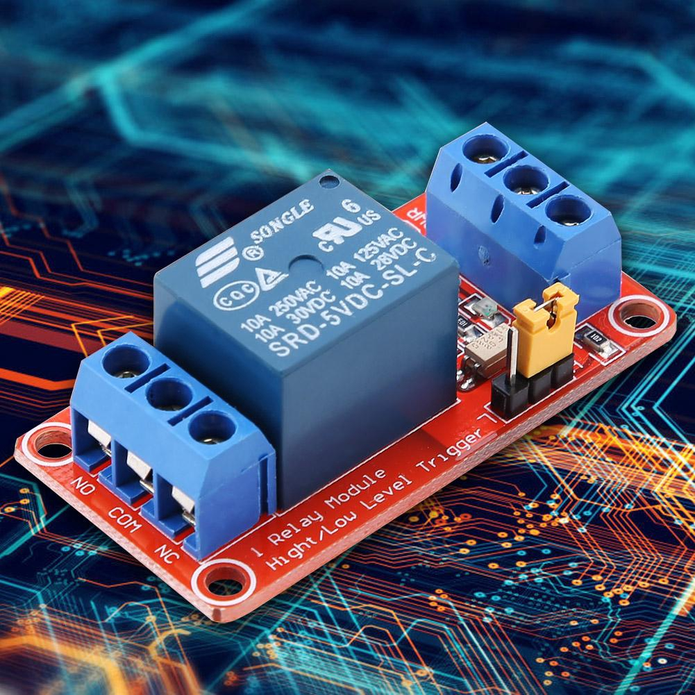 1 Channel Optocoupler Relay Module Board High & Low Trigger 5V/12V/24V