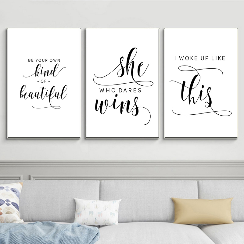 Motivational Quotes Posters Prints Minimalist Black And White Simple Canvas Quote Wall Art Picture Shopee Malaysia