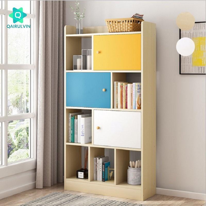 Qairulvin Modern Bookshelf Bedroom Bookcase Living Room Economical Bookcase Shelf Display Cabinet 3939 Shopee Malaysia