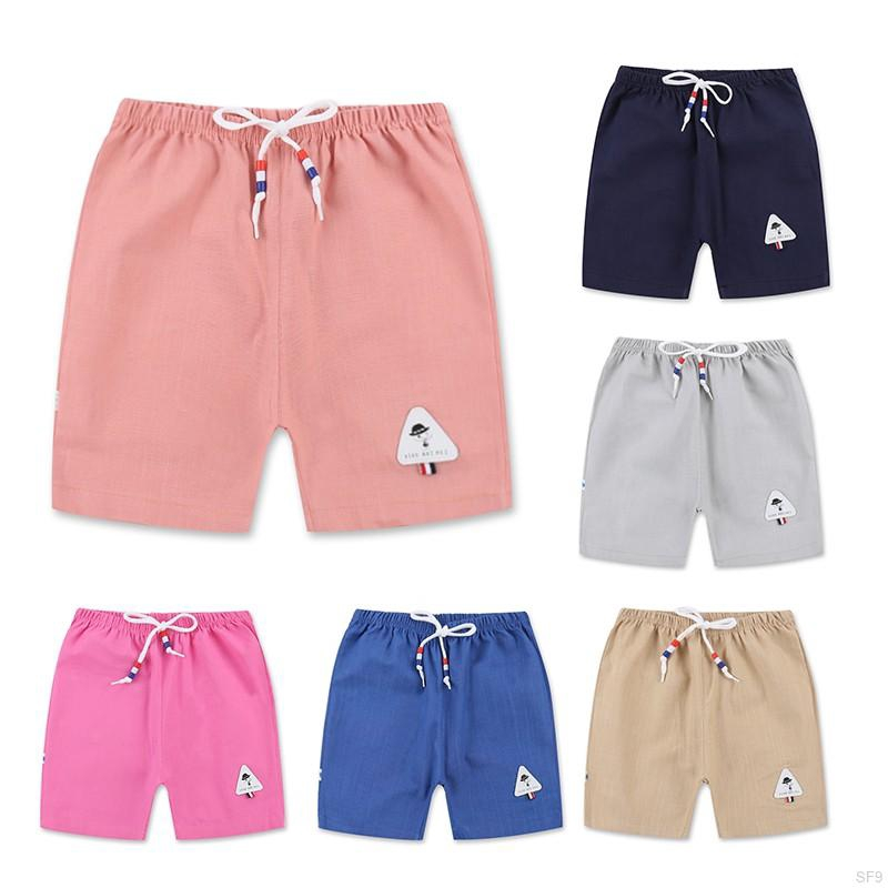 Unisex Children Kids Summer Daily Casual Sports Solid Cotton Short Pants Clothes