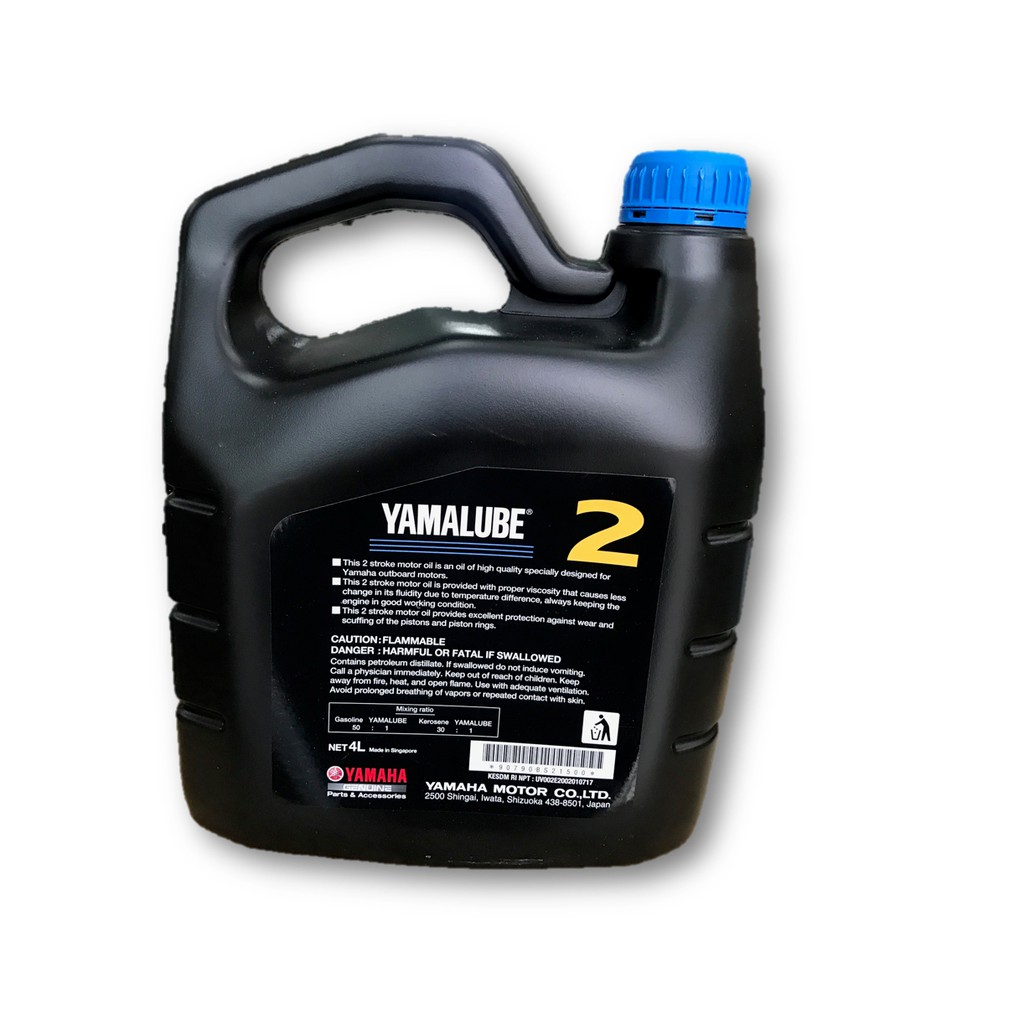 Yamaha Yamalube Genuine Oil 2 Stroke Outboard motor 4L 2T TC-W3 (Made In  Japan)