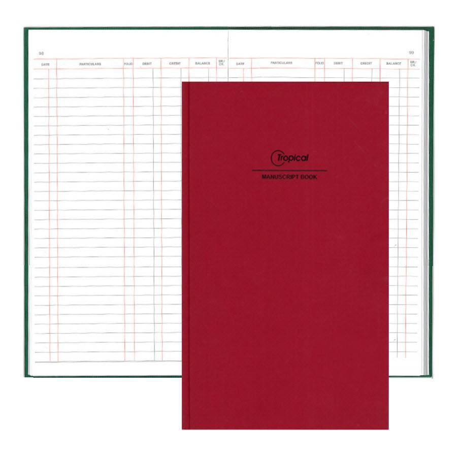 Tropical F4 Hard Cover 3 Columns Foolscap Book Manuscript /Buku Log Kulit Tebal Notebook Hardcover Account Book Akaun