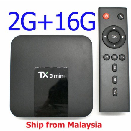 TX3 Mini Android 7 1 Quad Core TV Box HD Media Player WiFi