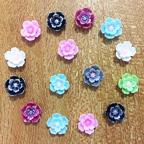 "4//8/""x4//8/"" 200PCs Mixed Flower Acrylic Spacer Beads Jewelry Making 13x12mm HOT"
