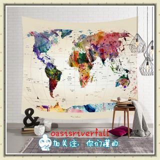 🌹【HOT SALE】🌹World Map pattern Tapestry for living Room wall Decorations