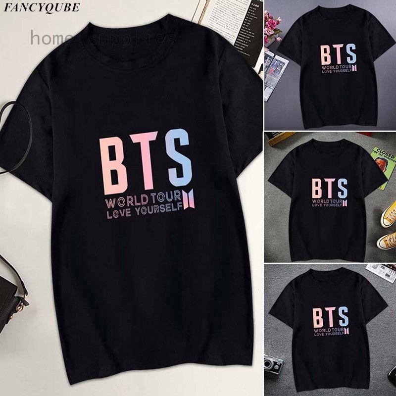 7e381348bb1d4 BTS Love Yourself Tear Bangtan Boys Tee Women T shirt Short Sleeve Tops  Blouse