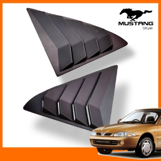 Proton Wira Rear Side Window Triangle Cover Protector MUSTANG Design