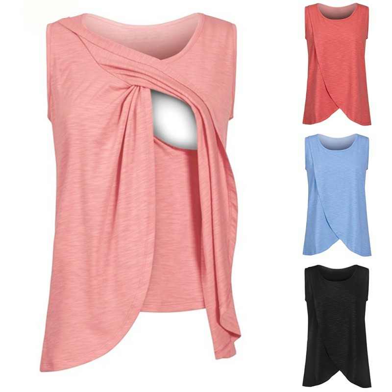 795d91531b370 Maternity & Nursing Wrap Sleeveless Top by Mothers En Vogue | Shopee  Malaysia