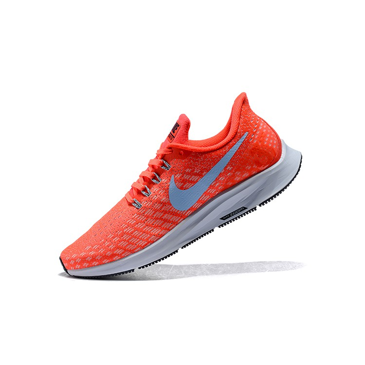 NIKE AIR ZOOM PEGASUS 35 Gray Orange 942851 006 Men's Trail Running Shoes