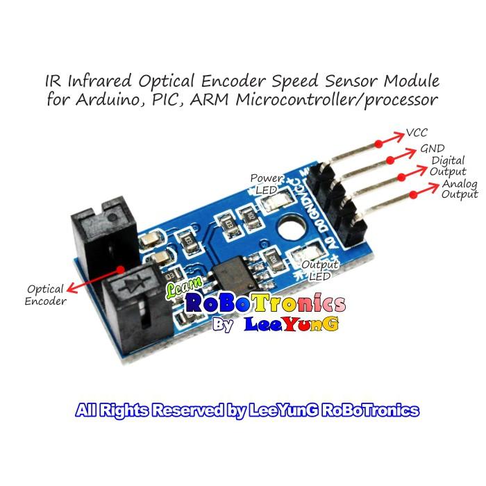 Infrared Speed Sensor Optical Encoder Tachometer Optocoupler Module Arduino