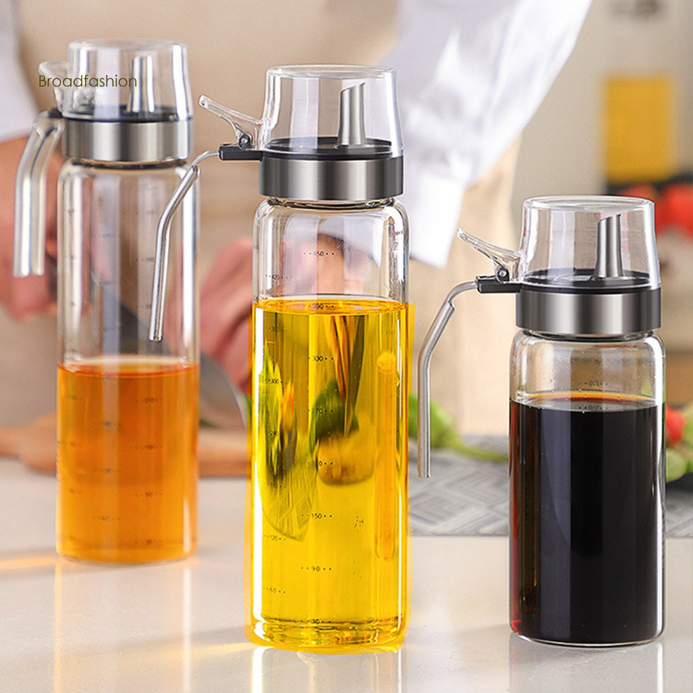 Leakproof Cooking Glass Oil Vinegar Dispenser