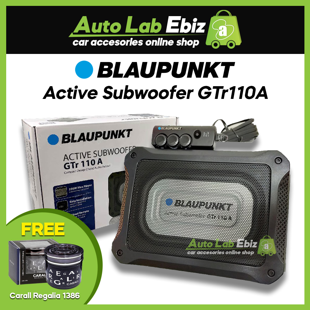 Blaupunkt GTr110A - Car Underseat Active Subwoofer with Amplifier 250 Watts (Free Carall Regalia 1386)