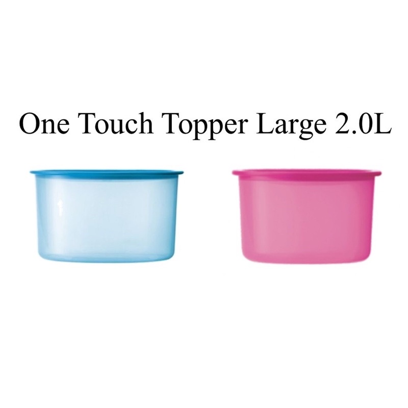 Tupperware One Touch Large Topper 2L Blue Pink