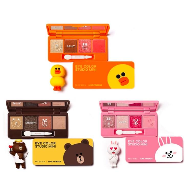 [1+1]MISSHA x Line Friends Eye Color Studio Mini   Shopee Malaysia