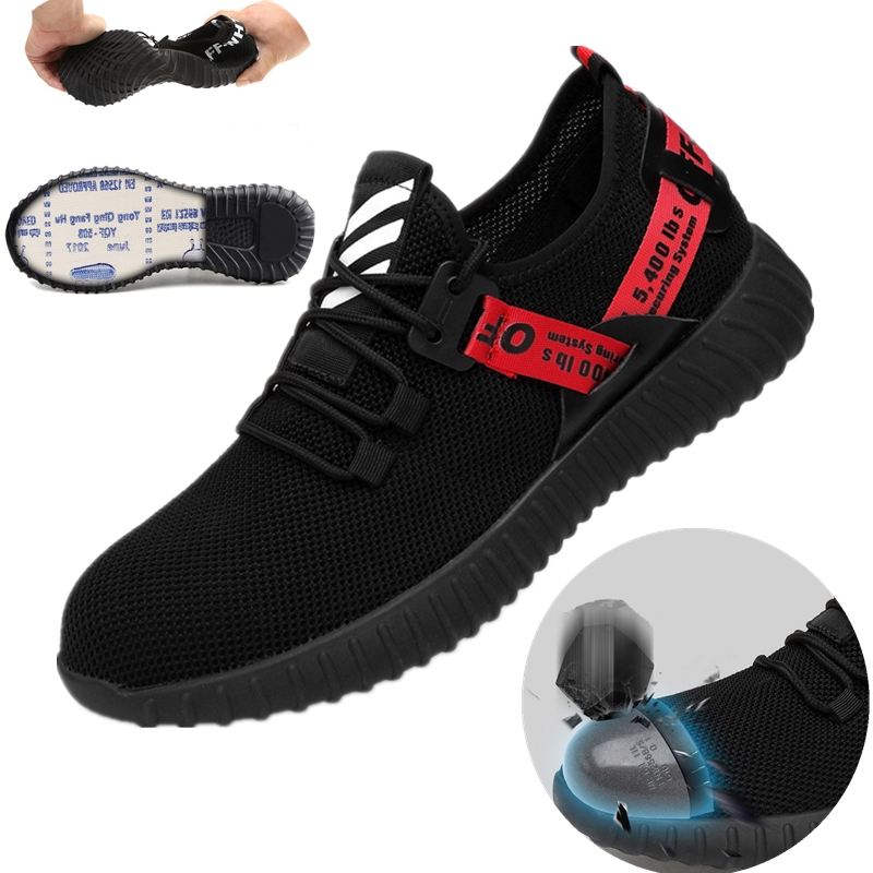 Mens Steel Toe Work Boots Sports Hiking Shoes Trainers Lightweight Safety Shoes