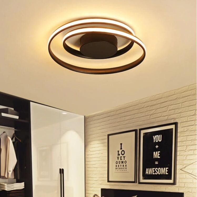Remote Control Bedroom Kitchen Living Room Lamp 30W Dimmable LED Ceiling Light