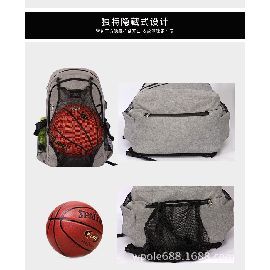 57c16cfb4f79 Hot Men's Sports Gym Bags Basketball Backpack School Bags Soccer Ball Pack