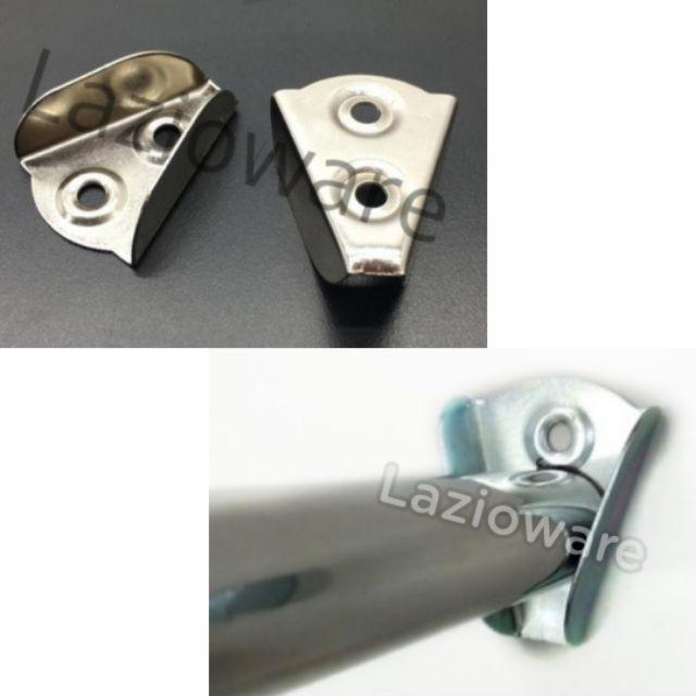 10 Oval Wardrobe Rail Rod Socket End Support Bracket Chrome-10 pcs Sale