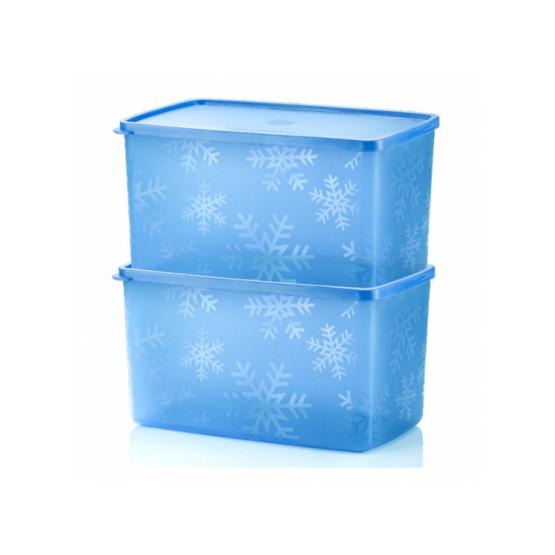 Tupperware Snowflake Double Square Round (2pcs) 2.8L