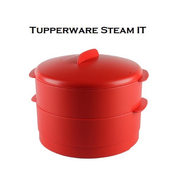 Tupperware 2-tier Steam It Double Layer Steamer Food Safe
