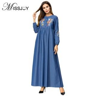 39686411dc5e0 MISSJOY 2018 UAE Abaya Wedding Dress Muslim Kaftan Women Party Lace ...
