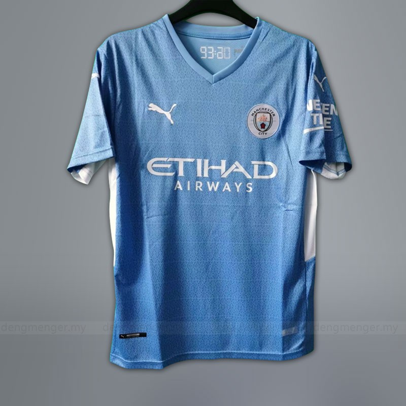 Manchester City Jersey Home 2021 2022 Football 21 22 Short Sleeve Man Fans Jersey Shopee Malaysia