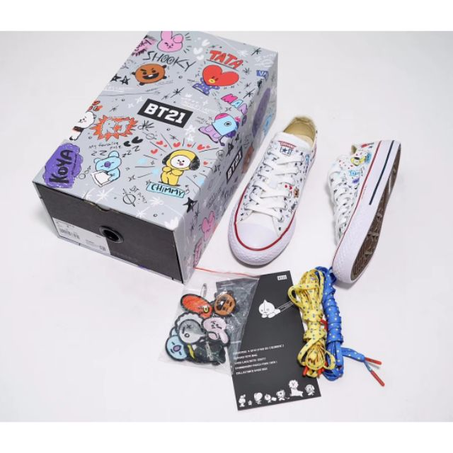 a9b3eee5a948e2 Converse X BT21 Low Top White By BTS Korea Women Shoe Sneaker ...