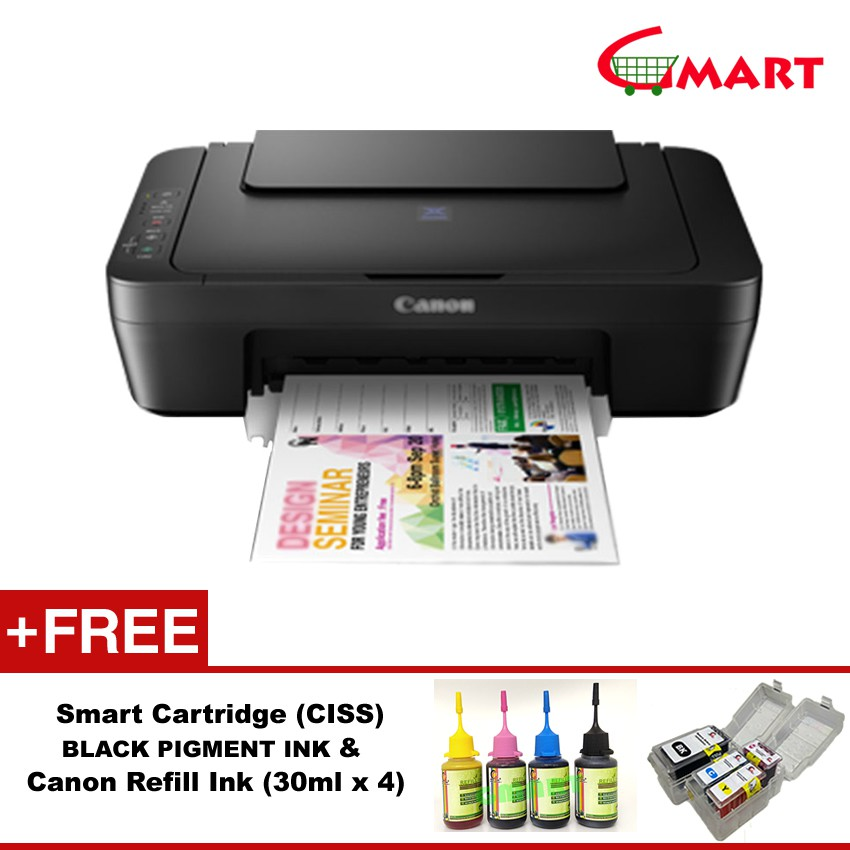 Canon PIXMA E410 Color Inkjet 3 in 1 Printer Free Gifts