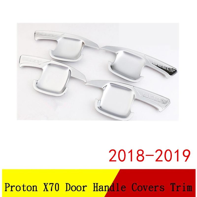 Proton X70 2018 Chrome Door Handle Cover/Door Handle Bowl Cover - 4pcs