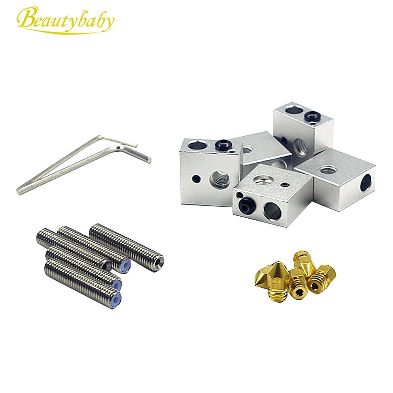 Double Hose Nozzle Heating Block Precise for Makerbot 3D Printer Accessories