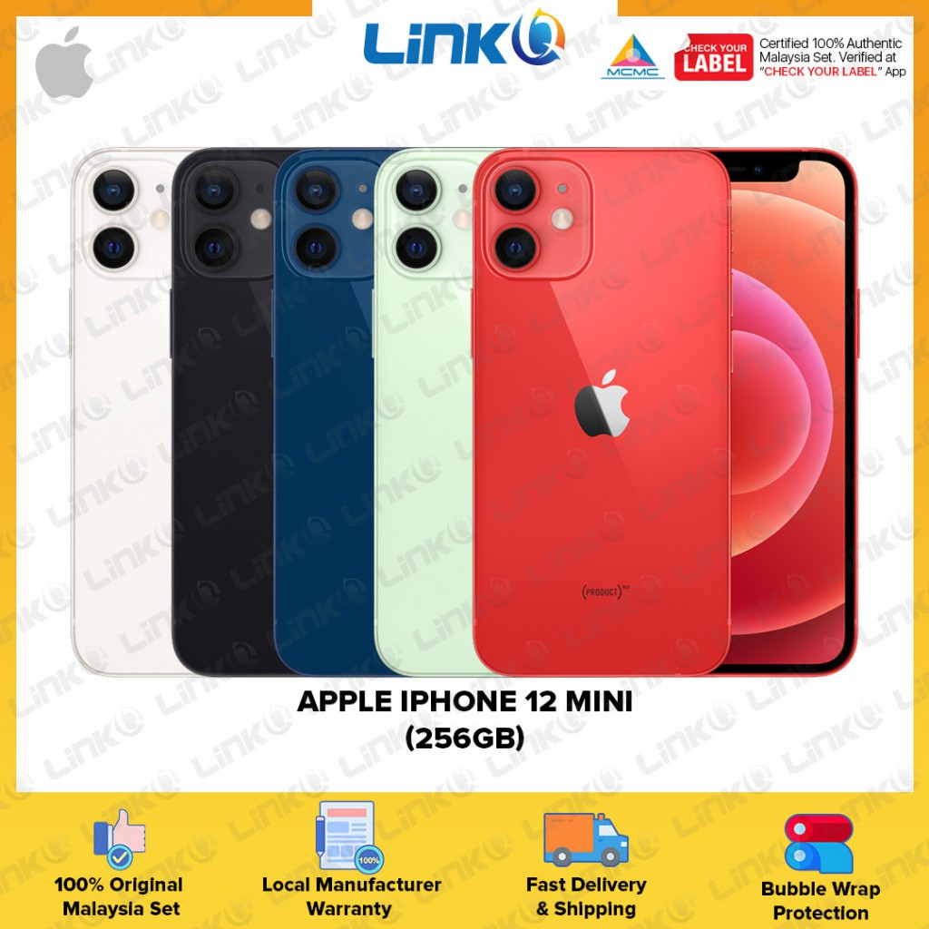 [ETA MID OF NOV] Apple iPhone 12 mini 256GB (5G) Smartphone - Original 1 Year Warranty by Apple Malaysia