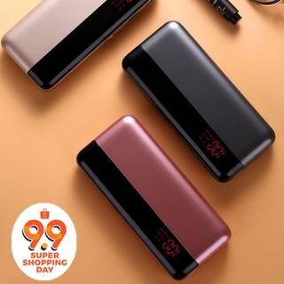 Ready stock 20000mah Power Bank External Battery Dual USB LCD Portable Powerbank