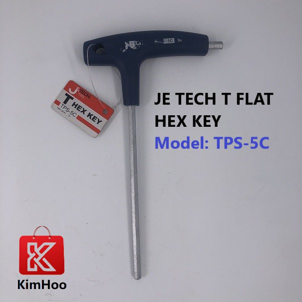 READY STOCK JE TECH T HANDLE FLAT HEX KEY 3mm, 4mm, 5mm & 10mm
